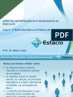 Estácio UNESA Cel0466 Aspectos Antropológicos e Sociológicos Da Educação  Aula_06(1)