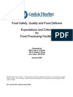 2007 Food Processing Expectations Manual