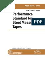 performance standard of steel measuring tape