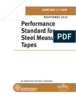 performance standard of steel measuring tape