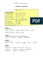 Aufgaben Und Loesungen Zu Logarithmen