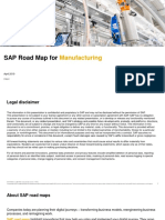 SAP Road Map for Manufacturing