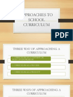 Approaches to School Curriculum