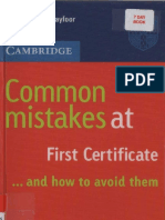 Cambridge - Common Mistakes at Fce and How to Avoid Them