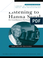Listening to Hanna Segal