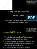 Computer Architecture Module Outline