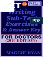 OET Writing (With 10 Sample Letters) for Doctors by Maggie Ryan Updated OET 2.0, Book VOL. 1, 201--OET 2.0 Writing Books for Doctors by Maggie Ryan)