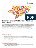 Behaviors to Watch Out for When Adults are with Children