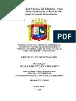 1. Proyecto de Investigación Tc- Juan Carlos Vilca Cervantes Eba-una Puno 2019