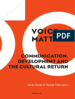 Voice and Matter Communication Development and the Cultural Return