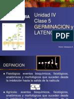 IV Unidad Germinacion y Dormancia