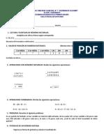 Examen diagnóstico 1 secundaria