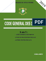 Sommaire Code General Des Impots Ivoirien 2019 (1)