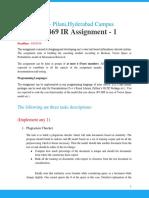 Information Retreival Assignment