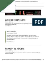 Programa de Actividades 42.ª Feria Internacional Del Libro - Cámara Uruguaya Del Libro