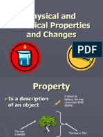 physical  chemical properties and changes
