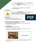 Laboratorio 1. Investigación de Accidente