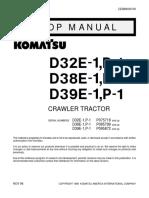 D39E-1 Shop Manual