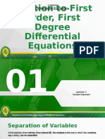 Lecture 3 - Solution to First Order, First Degree De