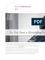 Do You Have a Glutathione Insufficiency?