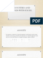 Annuities Bonds With Excel