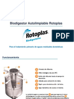 Biodigestor Autolimpiable Rotoplas