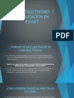 El Constructivismo y La Educacion en Piaget