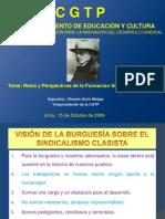 RETOS Y PERSPECTIVAS DE LA FORMACION SINDICAL.ppt