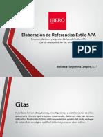 Elaboración de Referencias Estilo APA