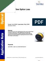 AN0003 - Optical Fiber Splice Loss