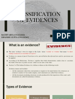Classification of Evidences