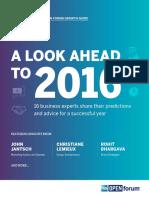 2016 Predictions (Open Forum)