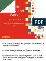 1 Kinetic Energy and Work