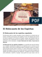El Holocausto de Los Espíritas