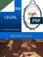 1. Medicina Legal. Historia e Importancia