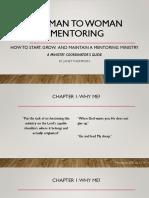 woman to woman mentoring