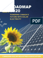 SOLAR - Roadmap 2020 - Powering Canada's Future With Solar Electricity