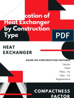 Classification of Heat Exchanger by Construction Type