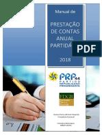 Manual de PRESTAÇÃO DE CONTAS ANUAL PARTIDÁRIA 2018