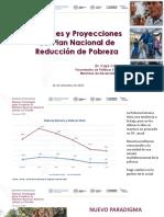 Avances y Proyecciones del Plan Nacional de Reducción de Pobreza