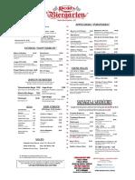 Redd's Restaurant & Biergarten New Brunswick draft beer menu