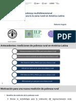 Mediciones de pobreza multidimensional especializadas para la la zona rural en América Latina