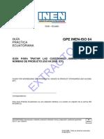 ISO 64-2008 Guía Para Tratar Las Cuestiones Ambientales en Normas de Producto.