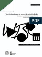 Manual WISC III-Chile