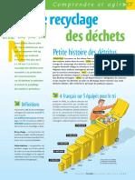 Infographie Carrefour - Le recyclage des déchets - Juin 2004