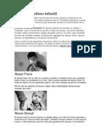 El Tema Del Abuso Infantil