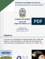 TEORIA de REDES - TEMA 03 - Capa de Enlace 2 de 2-Converted