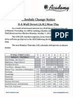 Monroe's new Wall Street Express bus schedule