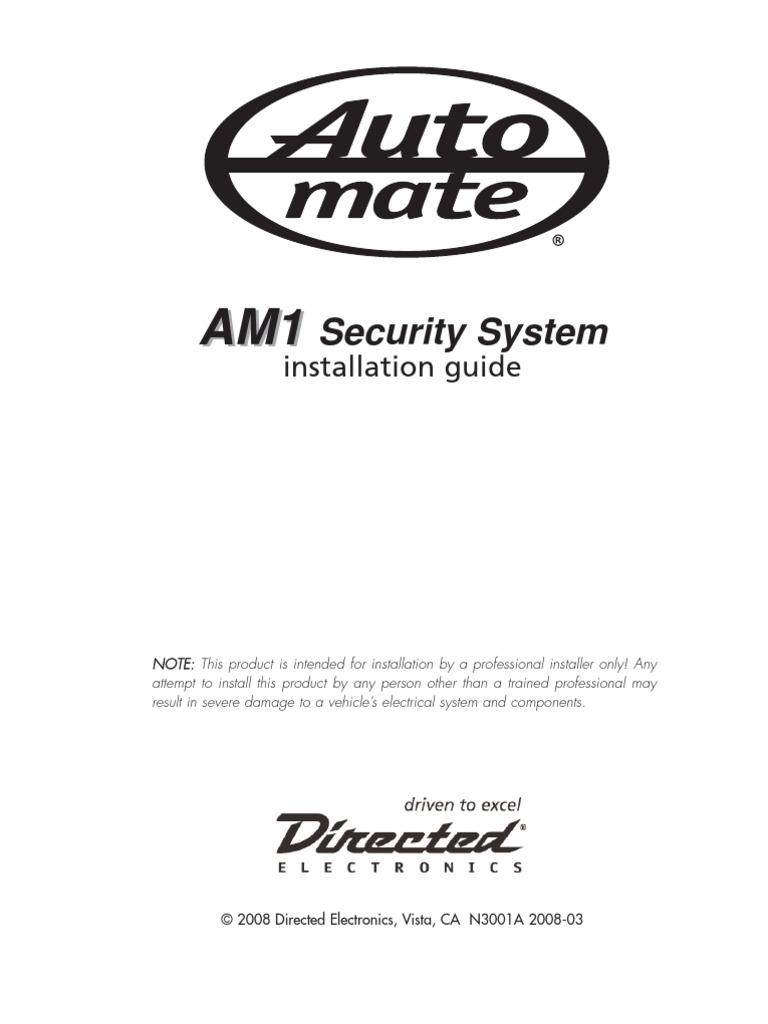 alarma am 1 manual instalacion ignition system relay rh scribd com A.M.-1 Key Blank Weil-McLain Gas Boiler Manual