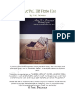 211 Long Tail Elf Pixie Hat Both Versions Pattern PDF